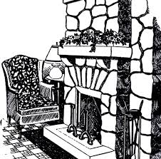 vintage stone fireplace image the graphics fairy