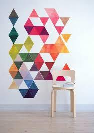 beispiele für wandgestaltung mit farbe wandgestaltung mit farbe geomerische formen kleurpatronen