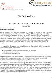 non profit business plan template download free u0026 premium