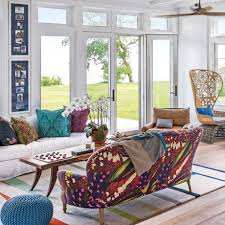 Colorful Patterned Curtains Living Room New Model Curtains Interior Design Living Room