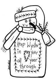 free printable primitive snowman patterns free goods free