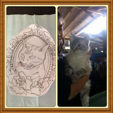 cat with picture vintage picture frame tattoo best tattoo shops