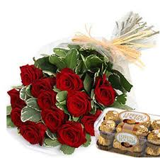 order flowers online cheap 12 roses bouquet with chocolate best online flower shops in