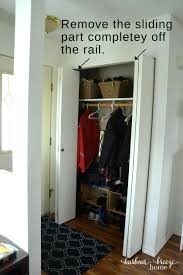 Removing Folding Closet Doors How To Convert Bi Fold Closet Doors Into Modern Farmhouse