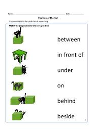 prepositions worksheets for grade 1 and 2 teacherlingo education