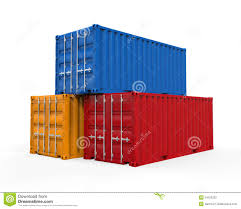 stacked shipping container stock photography image 34100232