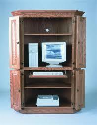 Corner Hutch Computer Desk Best 25 Computer Armoire Ideas On Pinterest Craft Armoire