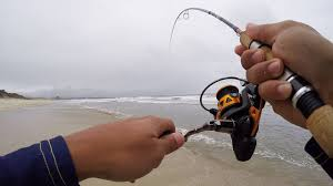 ultra light rod and reel ultralight micro surf fishing surprise youtube