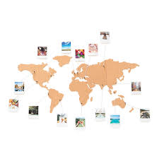 Personalised World Map Pinboard by Corkboard Map Self Adhesive Map Of The World