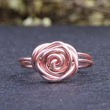 gold wire rings images Flower wrapped rings rose gold ladies fashion ring three materials jpg