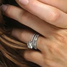 Stacked Wedding Rings by Kate Beckinsale U0027s Emerald Cut Diamond Engagement Ring And Wedding