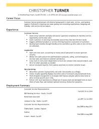 customer service resume summary example of a templates to print