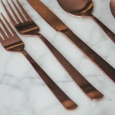 oslo copper flatware set relish decor