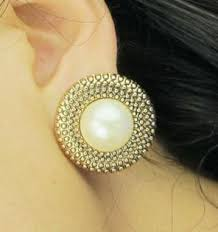 big stud earrings e024t vintage gold and big pearl 2013 fashion stud earrings for