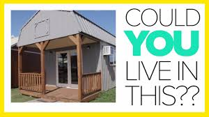 tiny house tours on a derksen portable building lot with cabins