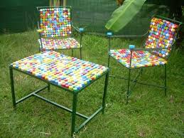 colorful outdoor furniture made from recycled plastic such fun i