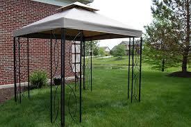 gazebo 8x8 8x8 ft lowe s steel frame gazebo with high grade canopy 300d
