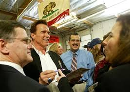 American Blinds And Draperies Gov Arnold Schwarzenegger Stumps For Special Election Photos And