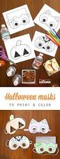 halloween masks print color u0027s autumn