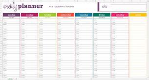 excel weekly calendar template calendar monthly printable
