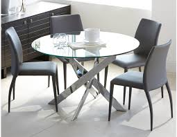 glass and chrome dining table ibiza round glass and chrome dining table 47 round glass ibiza