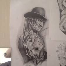 jason vs freddy krueger tattoo pictures to pin on pinterest