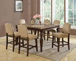 bar height dining room table sets boyer two tone counter height dining table set bar kitchen sets