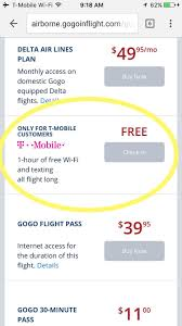 t mobile free inflight wifi how i outsmarted gogo s unfair monopolistic pricing with help
