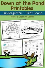 pond worksheets for kindergarten and first grade updated for