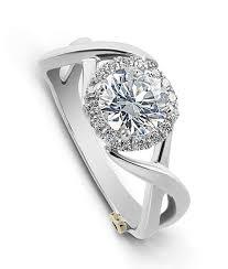 unique engagement ring aura modern engagement ring schneider design california