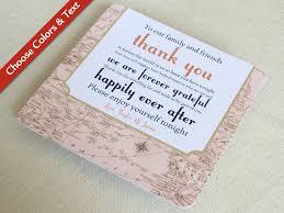 vintage map wedding reception thank you card destination