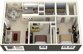 Two Bedroom House Designs 50 Two 2 Bedroom Apartment House Plans Compact Apartments And
