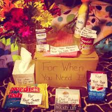 feel better care package ideas like the vow gift box but design your own g i f t s