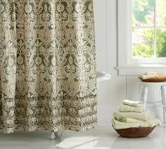 Lorraine Curtains Lorraine Ruffle Shower Curtain Pottery Barn