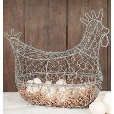 egg baskets chicken wire egg basket serenelakeliving