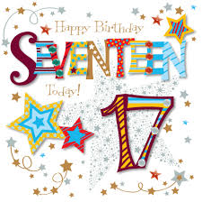 seventeen today 17th birthday greeting card cards kates
