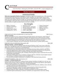 Samples Of Medical Assistant Resume by Resume Sample Receptionist Or Medical Assistant Random