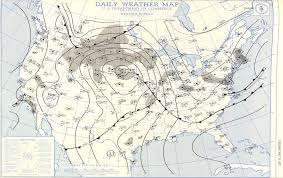 Weather Classic Map 1957 Carter County Tornado