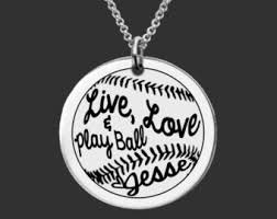 personalized granddaughter gifts softball jewelry etsy