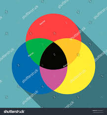 Cmyk Spectrum Color Range Spectrum Circle Round Palette Stock Illustration
