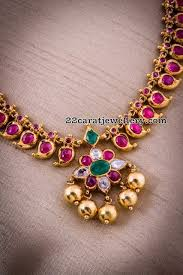 necklace jewelry patterns images Simple ruby necklaces jewel indian jewelry and gold jpg