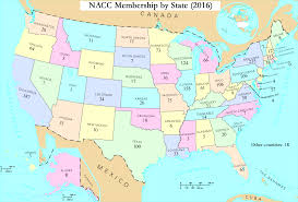 States Map Of Usa by Member Map The National Association Of Catholic Chaplains