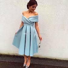 simple dresses 2017 simple blue prom dresses shoulder ruched satin tea