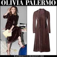 olivia palermo in velvet midi dress for instyle september 2017 i