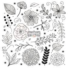 Wedding Flowers Drawing Vector Rustic Wedding Clipart Flower Clipart Hand Drawn Clipart