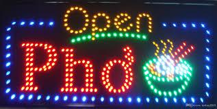 shop open sign lights 32x16 vietnamese pho beef noodle soup restuarant open led shop sign