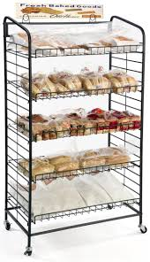 Bakers Rack Shelves 5 Shelf Bakers Rack Adjustable Shelves U0026 2 Sign Holders