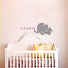 aliexpress com buy personalized baby name wall decal elephant difference between carving wall stickers and printing wall stickers