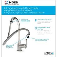 arbor kitchen faucet moen 7594srs arbor one handle high arc pulldown kitchen faucet