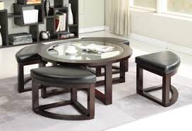 coffee table modern round coffee table storage with stools small